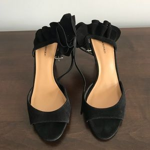 Banana Republic suede black sandals
